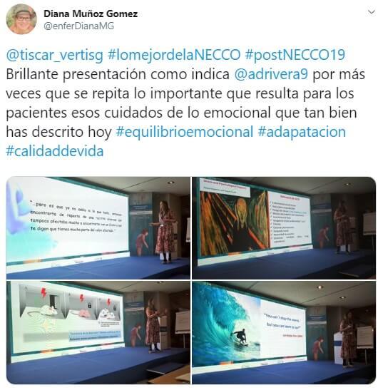Tweet sobre la ponencia de Verónica Tiscar